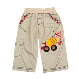 Wholesale D3790 NOVA kids wear mixer truck embroidery solid hot sale boys autumn summer casual shorts and sports