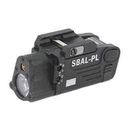Tactical CNC Making SBAL-PL White Light LED Gun Light With Red Laser Pistol Rifle Flashlight Black
