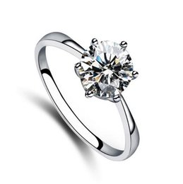 Rhinestone shinning single diamond Ring, 925 sterling silver,for wedding, engagment, noble and delicate, free shipping and high quality