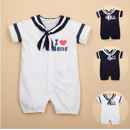 Wholesale Sailor Baby Boys Rompers Baby Girls Dresses Newborn Clothing Summer Clothes Shortalls Outfits 100% Cotton Hot Sale Top Quality