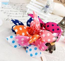 Promotion accessoires de cheveux pour les bébés filles Gros-filles bandeaux 5pcs / lot détail Mix Colores coton élastique Dot fleurs HairBand, accessoires pour cheveux de bébé de 2015, les filles bandeaux