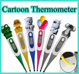Wholesale cute Baby Care digital LCD Thermometer For Kids Oxter Cartoon Thermometer With Soft Tip
