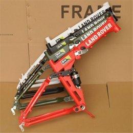 Wholesale Landrover G4 Folding Bike Frames Full Suspension Disruptive Pattern Aluminum Bike Frame Cheap Price Custom Soft Tail Frame A17