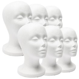 Styrofoam Foam Mannequin Model Head White Model Display Tool Wigs Hat Holder Woman 11 INCH Head
