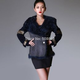Wholesale-14118 2015 new top quality real sheep fur coat double faced overcoat thick winter coat women dress