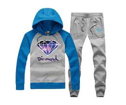 free shipping s-5xl men and women diamond supply o-neck Sweatshirts men autumn winter fleece hoodie +pants
