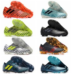 2018 original soccer cleats Nemeziz 17 360 Agility FG mens soccer shoes cheap leather football boots low top scarpe da calcio Golden New