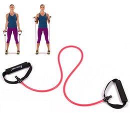 Wholesale Cheapest Resistance Bands - Wholesale-cheap Yoga Exercise Resistance Band Stretch Fitness Tube Cable For Workout Yoga Muscle Tool Fitness Elastic Training Rope