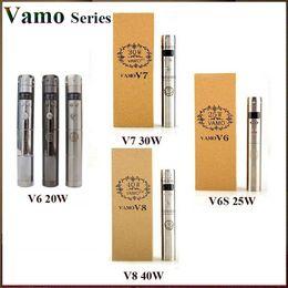 Wholesale Vamo Series Vamo V6 V6S V7 V8 W W W W Vape Mod VW Mechanical Mod Box Mods fit Aspire Nautilus Mini Aerotank Mow Genitank Mega