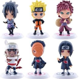 6 design Naruto Q Edition Naruto Anime Action Figures Collection toys 2016 new Children Naruto Cartoon PVC Figures Model toys BY0000