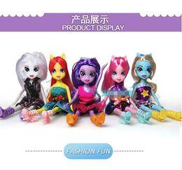 Wholesale 18 OFF Brand discount new fashion My Little Pony Equestria Girls Doll Twilight sparkle Rainbow dash Rarity Fluttershy WD