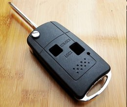 Wholesale 2 Buttons Remote Flip Folding Key Shell Case Fob Keyless Fit For Toyota Camry Prado Avalon Corolla Echo RAV4
