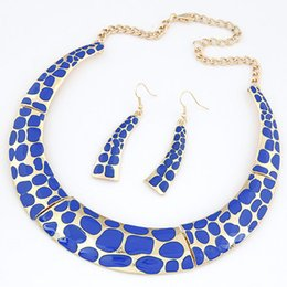 Wholesale Fashion Design Simple Style Leopard Jewelry Sets Necklace and Earrings Sets Color Joyeria For Women Dress Accessory Fine Jewelry