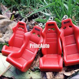 Wholesale nterior Accessories Key Rings Recaro Car Seat Styling Keychain Auto Parts Modified Keyring Car Hellaflush Key Chain Red Plastic turbo key