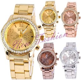 Wholesale 2015 new hot selling steel watch rose gold diamond watch male female form fashion watches