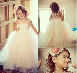 Wholesale Sweetheart Neckline Communion Dress - Beautiful Girls Dress For Wedding Flower Dresses Jewel Neckline Floor Length Sleeveless Lovely Princess Girls Pageant Gown Party Gowns