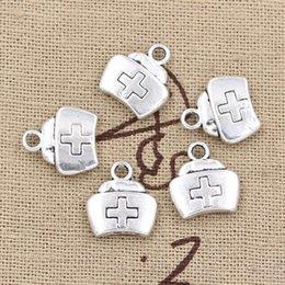 Wholesale 120pcs Charms first aid kit cross mm Antique Zinc alloy pendant fit Vintage Tibetan Silver DIY for bracelet necklace