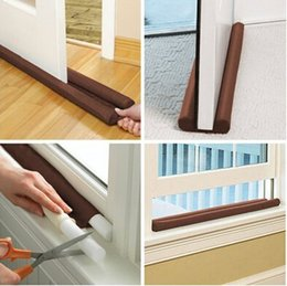 Wholesale Hot Sale Brown Twin Door Draft Stopper Dual Draught Excluder Air Insulator W indows Dodger Guard Energy Saving