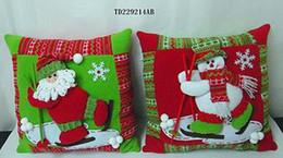 Wholesale 2 Christmas Pillows Indoor Decoration Santa Claus Snowman Reindeer Gift Supplies Stage Set Props Children Toys s140