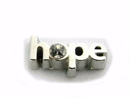 Wholesale 20PCS lot Hope Letter Charm, DIY Alloy Floating Locket Charms Fit For Glass Living Magnetic Locket Pendant