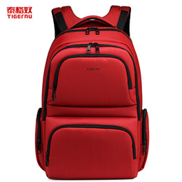 Wholesale 2016 new fashion Tigernu laptop backpack for men women anti theft double layer zipper design backpack for school boys girls fashion backpack