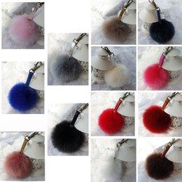 Femmes top perle en Ligne-Anneau porte-clés clés de voiture pendentif sac à main Peluche PU Lady en cuir Top Vendeur Femmes Boule Perle Decor GA403 Livraison gratuite