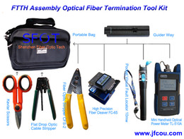 Wholesale FTTH Assembly Optical Fiber Termination Tool Kit with Fiber Cleaver FTTH Kit FTTH TooL Box set