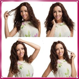High quality long curly natural color Human Hair Full Lace Wigs Malaysian Virgin Hair