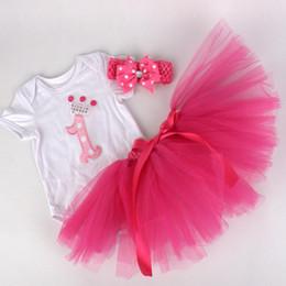 Wholesale baby girl infant toddler piece outfits birthday cupcake romper onesies pajamas PJ S tulle tutu skirt pettiskirt cake headband sets