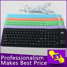 Wholesale-5pcs / lot 103 llaves plegables impermeable cable USB Teclado flexible de silicona suave para el ordenador portátil del cuaderno desde usb con cable al por mayor del teclado de silicona fabricantes