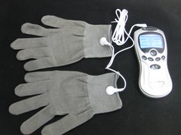Conductive Electrode Gloves Tens Machine Pain Relief Body Relax Massager reuse