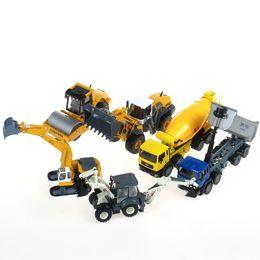 Wholesale Kaidi Wei alloy construction vehicles Model bulldozing mining dump trucks stirring roller Set