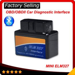 Wholesale 2016 best selling Super MINI ELM327 Bluetooth OBD2 V2 Smart Car Diagnostic tool Interface ELM Wireless Scan Tool