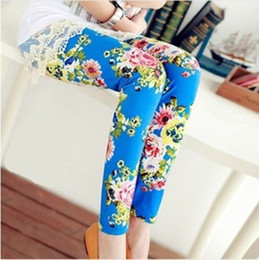Wholesale 2016 Spring Baby Girls kids Leggings Flowers Printed Children Begonia Floral Tights Girl Legging Pants clothing clothes leggins kids