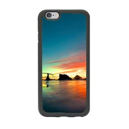 Wholesale Amazing Ocean Beach Sunset Sunrise Scene Print Custom Design Case Cover for iPhone inch Black
