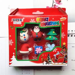 Christmas Erasers Rubbers 3d shaped christmas eraser sets funny pencil eraser sets children custom rubber erasser sets for christmas
