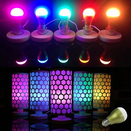 Amazing Smart LED bulbs AC85-265V 16 Million colors with Bluetooth 4.0 Energy more Attractive and more Magical