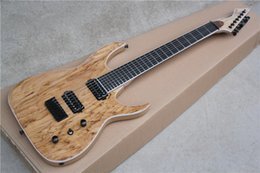 Wholesale 7 string Electric Guitar with Ash Wood Body and Rotten Wood veneer Rosewood Fingerboard Can be Customized as Requests