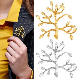 U7 Fashion Brooches For Women  Men Jewelry Wholesale 18K Real Gold Platinum Plated Unisex Tree Leaf Shape Brook Pin Accessories