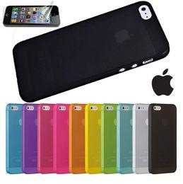 500pcs per lot colorful pp thin matte transparent case for iPhone 5 5s