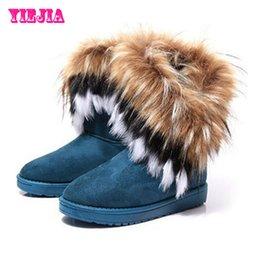 Wholesale-Botas Femininas 2015 New Brand Women Boots Fashion Elegant Ladies Short Boots Autumn Winter Warm Imitation Fox Fur Snow Boots