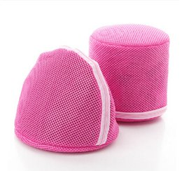 Wholesale 2 styles Bra laundry bag for Washing bra underwear Care wash Double Layer Rose Net bag Bra Laundry basket novelty household LJJC364