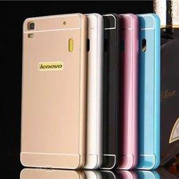 Wholesale Hot Lenovo Lemon K3 Note Metal Case Acrylic Back Cover amp Aluminum Frame Set Phone Bag Cases for Lenovo K3 Note