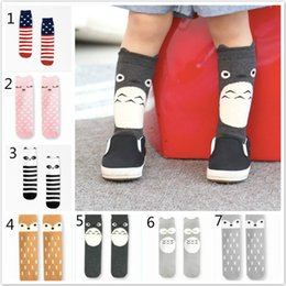 Wholesale New Boys Girl Lace Stocking Antiskid Sock Tights Pantyhose kid s Knee High Socks Cotton Cartoon Children s Socks Styles pairs A3135