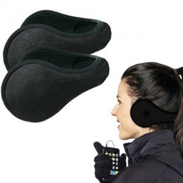 Wholesale-Women Men Winter Ear Warmers Behind the Ear Style Fleece Muffs Outdoor warm earmuffs