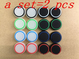 2pcs New 3D Silicone colorful Cap anti-slip Thumbsticks Joystick Caps Cover for PS3 PS4 XBOX ONE XBOX 360 Wireless Controllers