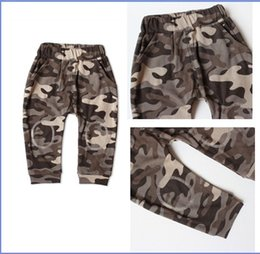 Wholesale Camouflage Pant Wide Leg - 2015 New AAA+quality fashion kid boys Uniforms Children's Autumn Winter clothing Camouflage Haren pants cotton casual pants V290