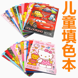 Wholesale coloring book for kids cartoon anime painting books Peppa Spiderman Tomas kitty big hero cars princess children giftS party supply