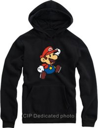 Free shipping hot sale Autumn Fleece pullover Super mario sweatshirt hoodie outerwear hoodies loose pullover 8 Color