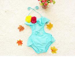 2018 Children swimwear cute children girl one piece swimsuit baby girl beach wear children clothing BH1733